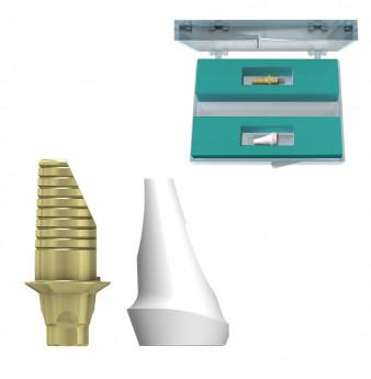 Zirconia incisor 15 deg. abutment set coni. con. ,NP