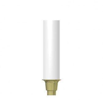 Coni. con. direct gold plastic cyl., NP