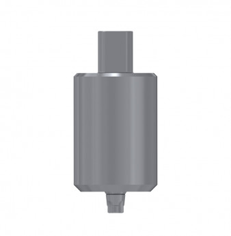 Titanium blank, anti rotation, conical connection, C1 NP