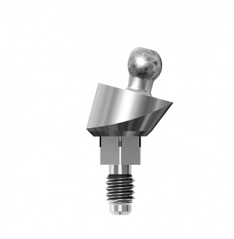 Ball anchor 15 deg. angulated abutment h.2mm