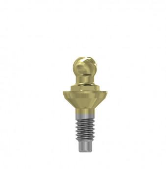 Ball attachment anchor internal hex. 1mm