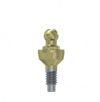Ball attachment anchor internal hex. 2mm