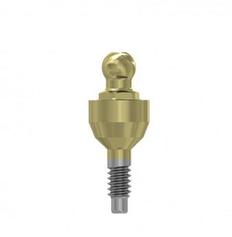 Ball attachment anchor internal hex. 3mm NP