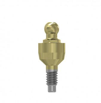 Ball attachment anchor internal hex. 3mm
