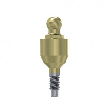 Ball attachment anchor internal hex. 4mm NP