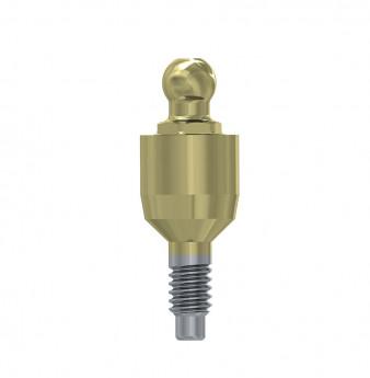 Ball attachment anchor internal hex. 4mm