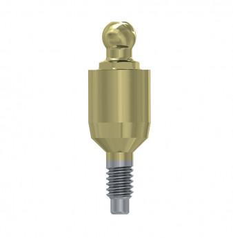 Ball attachment anchor internal hex. 5mm