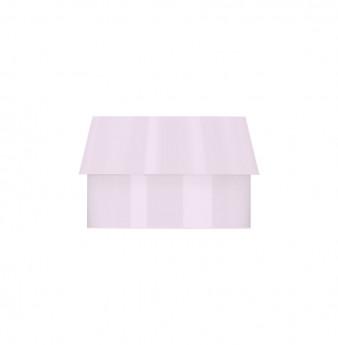 Soft plastic cap for metal housing