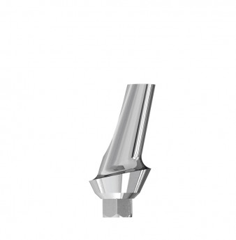 Esthetic 15 angulated abutment internal hex. 1mm