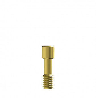Direct gold prosthetic screw internal hex.