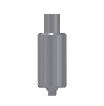 Titanium blank 9mm, anti rotation, int. hex., SP