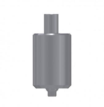 Titanium blank, anti rotation, int. hex., SP