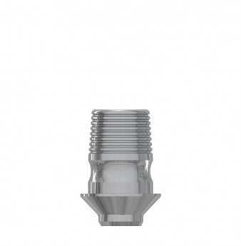 Ti Base h. 4mm without hex., int. hex., NP