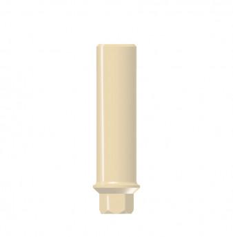 Narrow profile temporary plastic abutment, NP