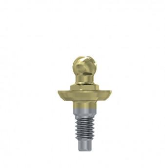Wide ball attachment anchor internal hex. 1mm