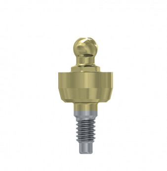 Wide ball attachment anchor internal hex. 3mm