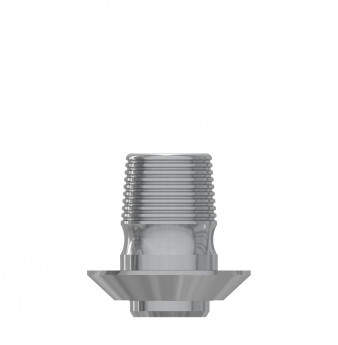 Ti Base h. 4mm without hex., int. hex., WP