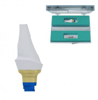 Zirconia 15deg. abutment set h.1.5mm coni. con., V3 NP