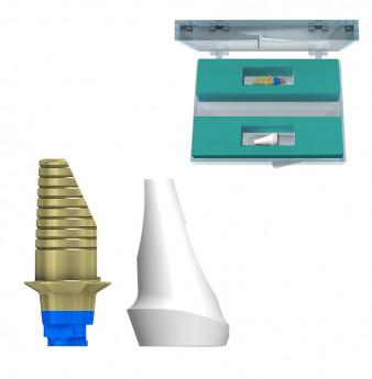 Zirconia incisor 15 deg. abutment set coni. con. ,V3 NP